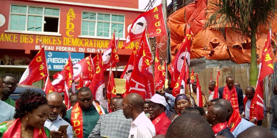 SUD-KIVU :marche pacifique Pour soutenir l'autorité morale de l'AFDC