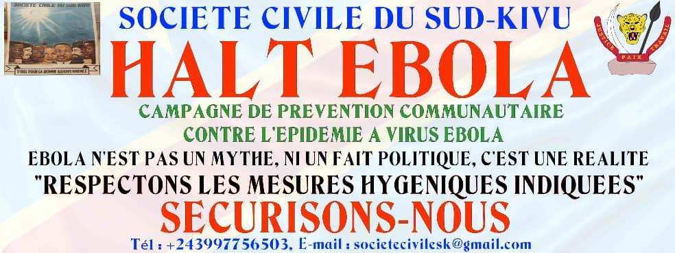 Halt Ebola : La société civile du Sud-Kivu déclenche une campagne de prévention