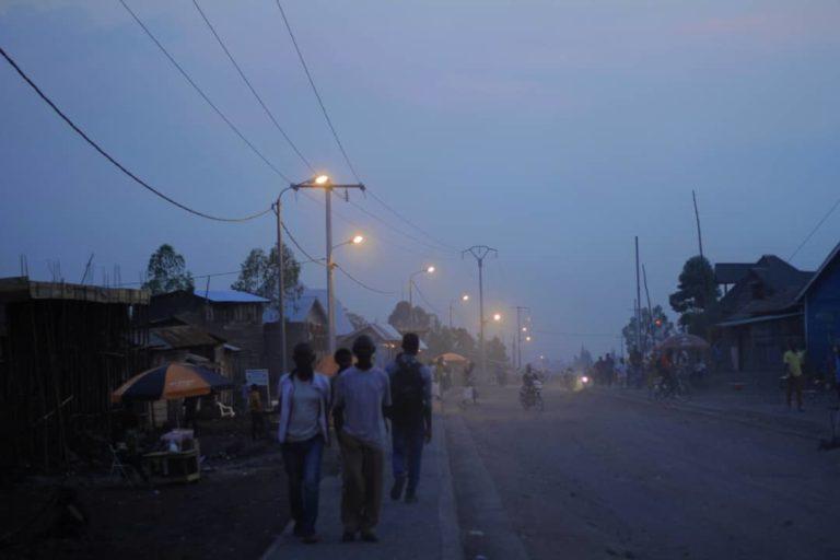 Nord-Kivu : Route entrée Président-Kilijiwe éclairée, la Lucha RDC-AFRIQUE félicite l'initiative.