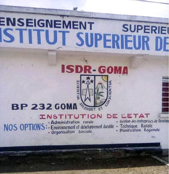 GOMA : Un agent de l'ISDR-GOMA menacé de mort pour avoir réclamer la démission de l'actuel comité de gestion - A sign on the side of a building - Billboard