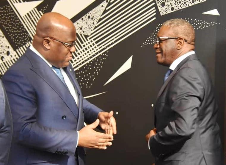 RDC : Félix Tshisekedi salue Président de la République Démocratique du Congo Félix les efforts de Dr Mukwege