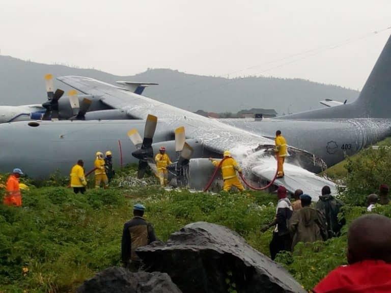 Goma: Un avion rate son atterrissage à l'aéroport international de Goma