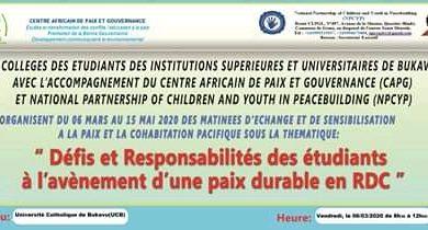 Photo of Bukavu : Des matinées d'échanges pour la paix s'ouvrent à l'UCB