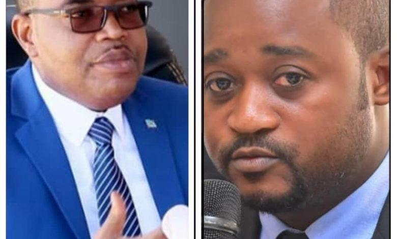 A gauche, le Gouverneur Théo Ngwabidje et le député Jacques Kamanda (droite)